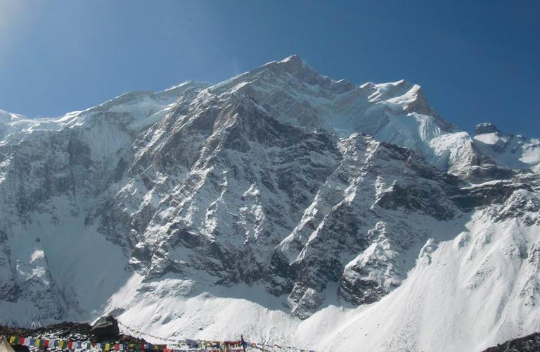 Dávid lefényképezte az Annapurnát az alaptáborból.