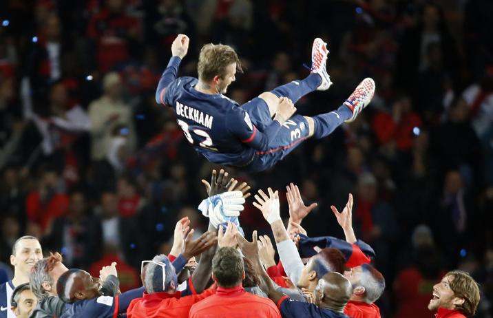 Beckham a Paris Saint-Germain színeiben
