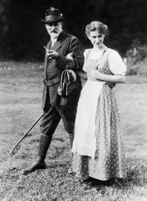 Freud, lányával, Annával