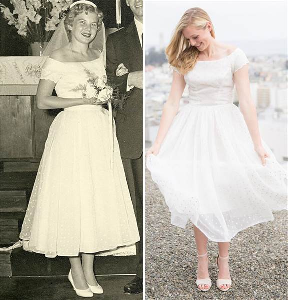 Nagymamája esküvői ruhájában készítette lélegzetelállító jegyesfotóit