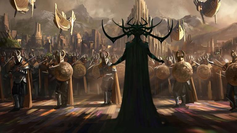 Hela szerepében Cate Blanchett lesz látható a Thor: Ragnarök című Marvel-filmben (Fotó: Marvel)