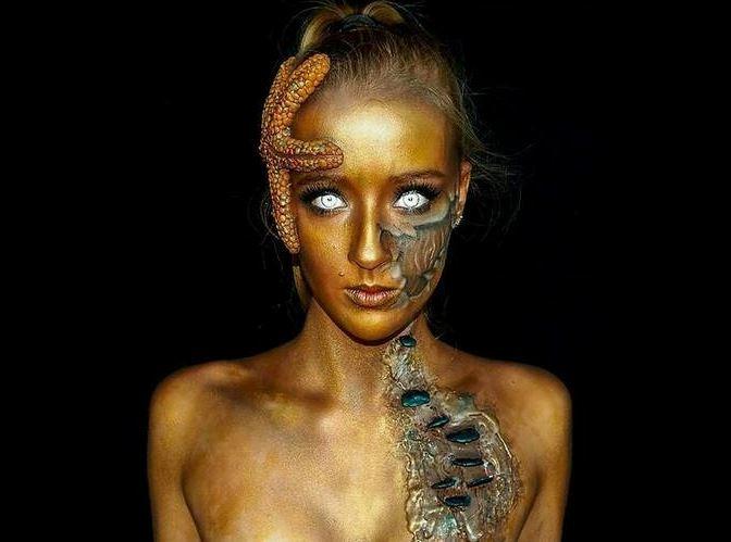 Földöntúli lényekké sminkeli magát a 16 éves lány