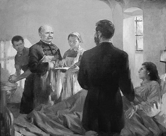 Semmelweis Ignác - Túry Mária alkotása