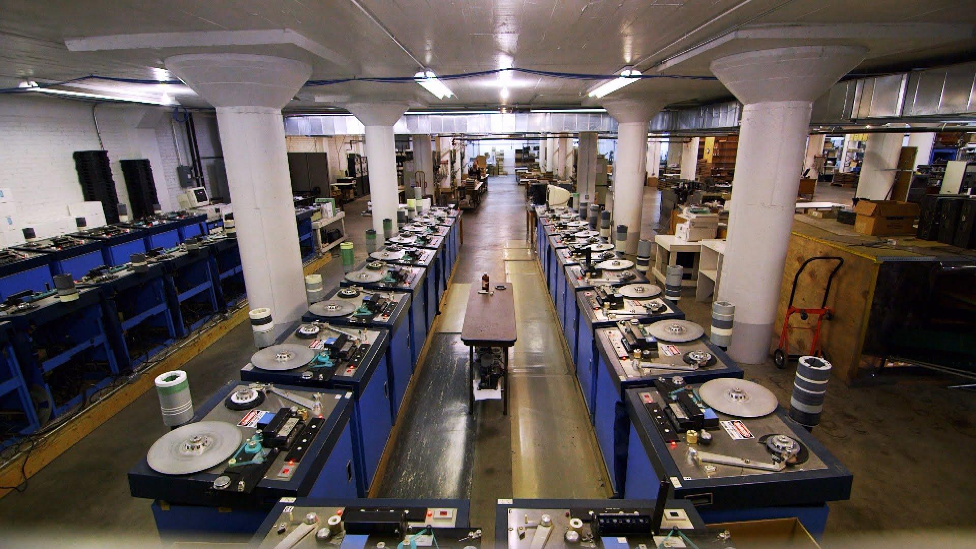 Így néz ki a National Audio Company gyárcsarnoka (Fotó: nactape.com)