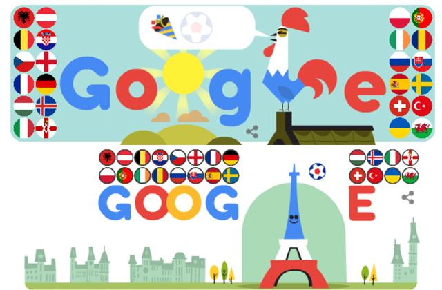 Néz meg mivel köszönti a Google a foci Eb-t!