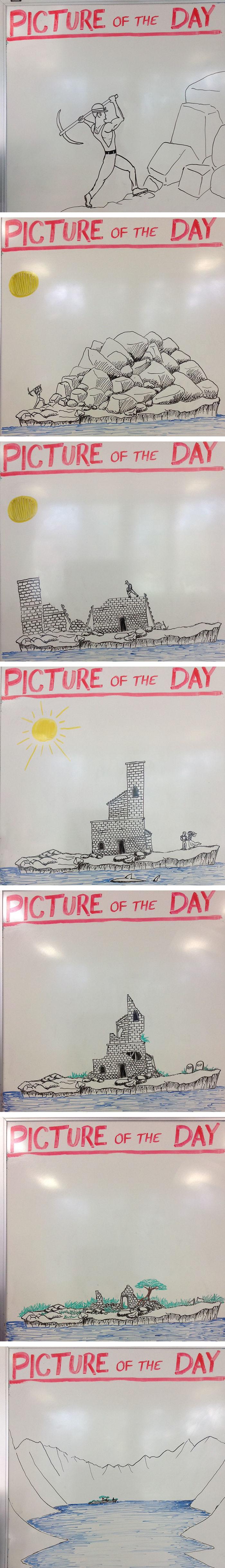 Minden nap rajzol diákjainak a kreatív tanár