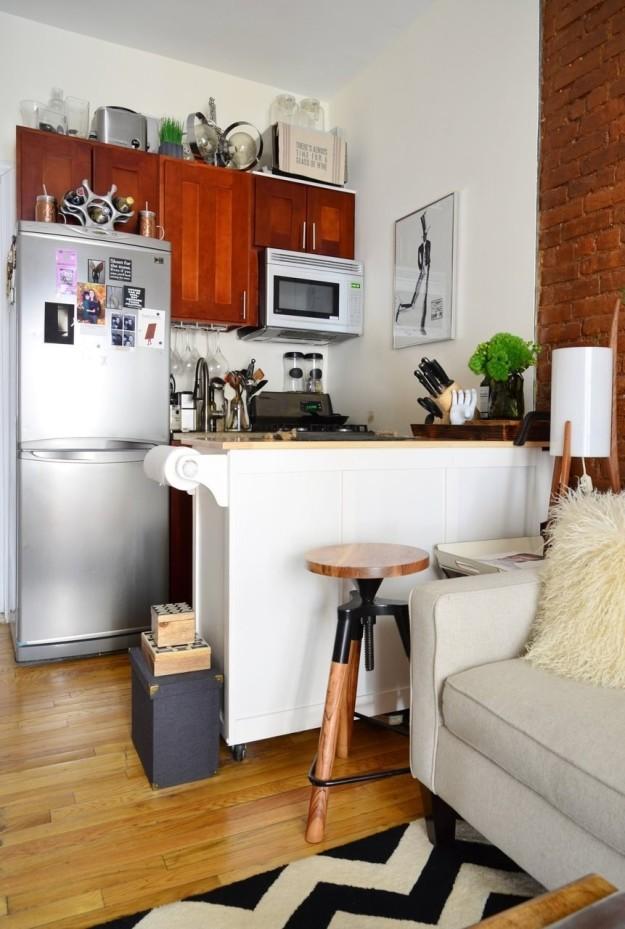 Mini konyha, szuper megoldásokkal.