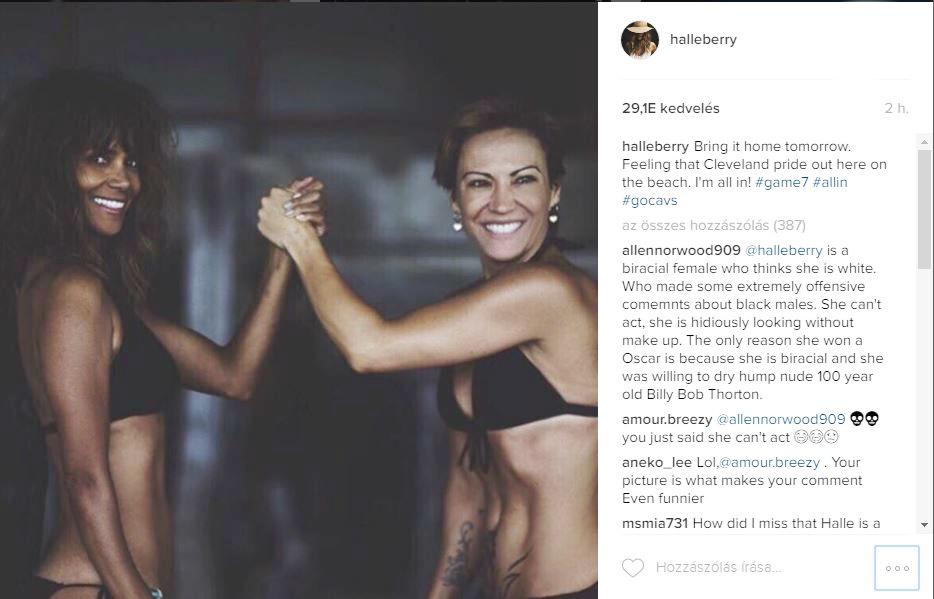 Helly Berry dögös bikiniben mondott köszönetet