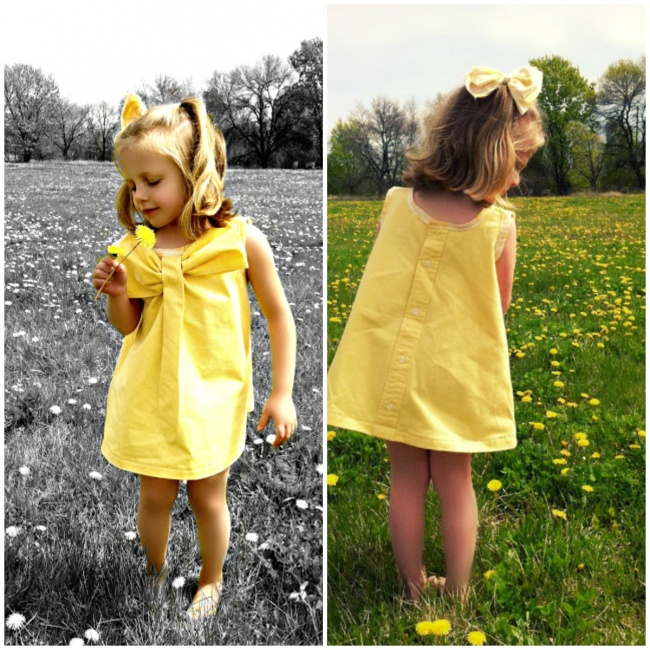 Nézd meg, hogyan lesz az apuka régi ingjéből imádni való kislányruha! - fotók
