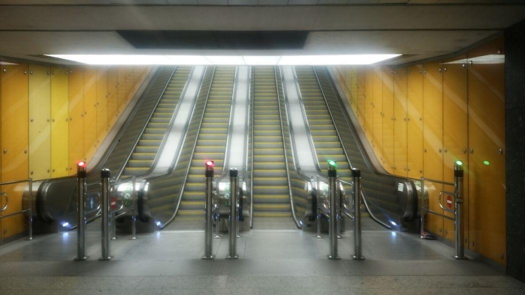 Négyes metró lépcsője/Fotó: Jámbor Eszter