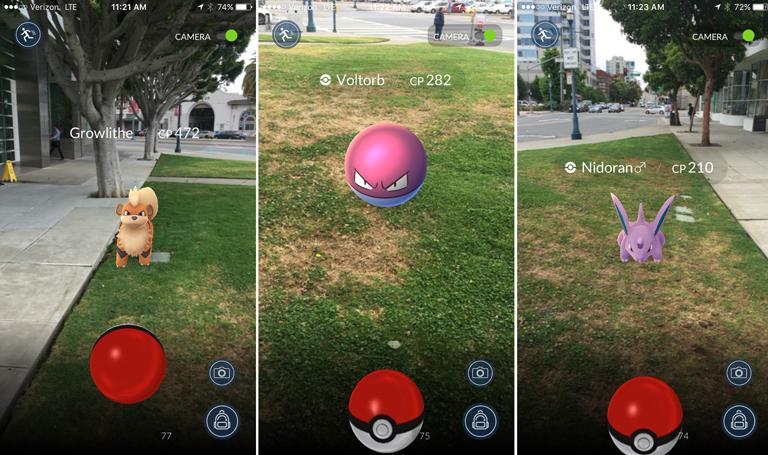 A telefon kameráján keresztül válnak láthatóvá a Pokémonok a való világban