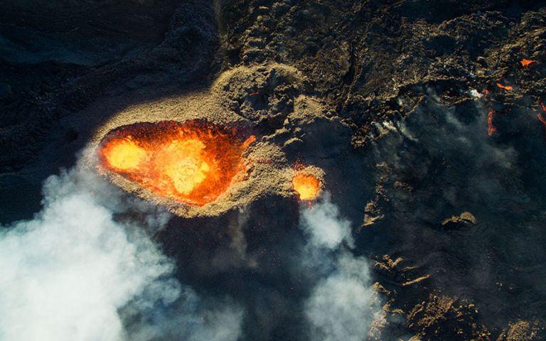 A Piton de le Fournaise-vulkán. Természet kategória, 3. helyezett.