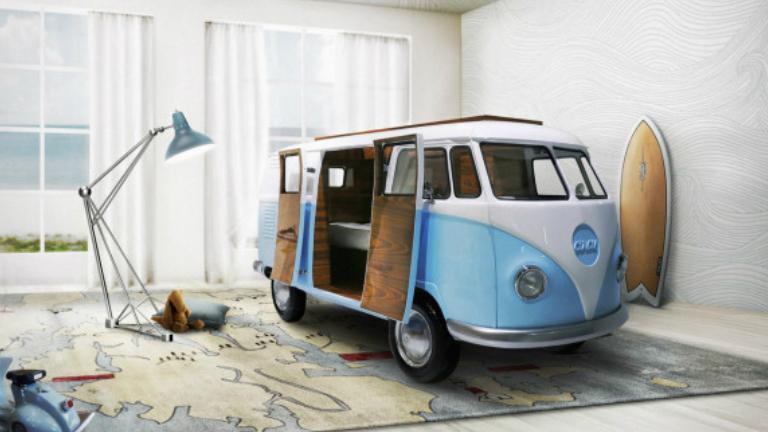 Így készíts Volkswagen kisbuszból gyerekágyat