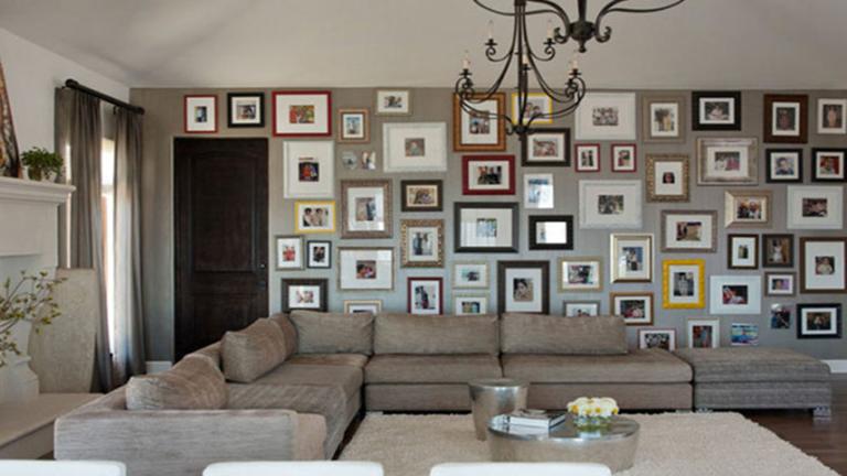 10 szuper ötlet a családi fotók elhelyezésére