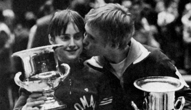 Nadia Comaneci és Bart Conner 1976-ban (Fotó: Nadia Comaneci/Bart Conner)