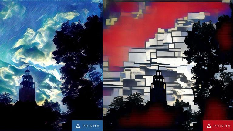 A Városmajori Jézus szíve plébániatemplom Hokusai és Mondrian stílusában (Fotó: Andersen Dávid)