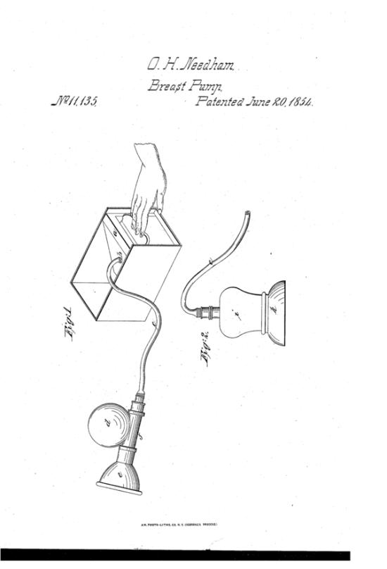 1854. Az első gumitölcséres mellszívó