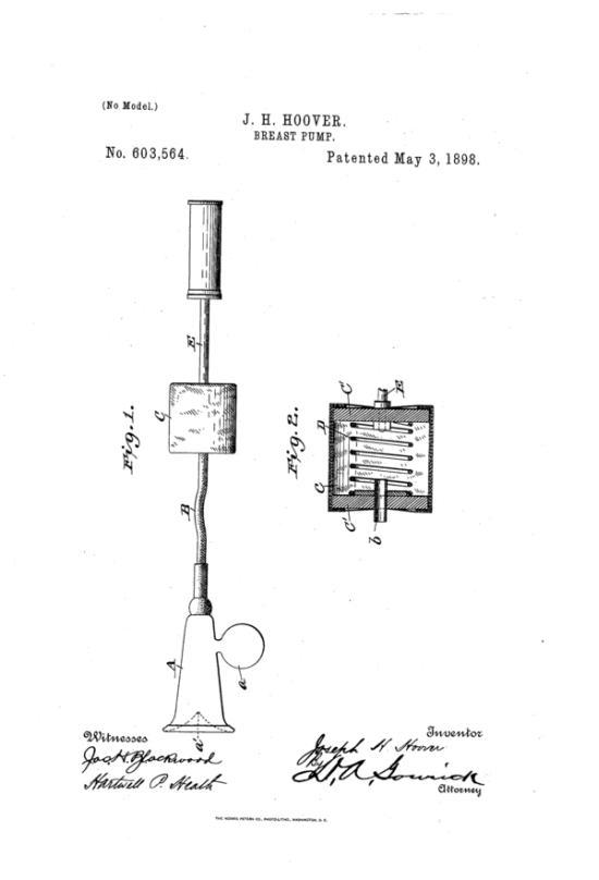 1897. Pulzáló mozgásra képes mellszívó