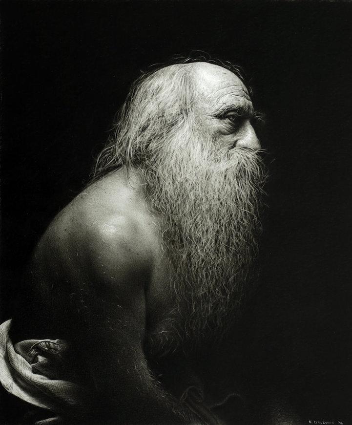 Több ezer óra munkájával készít fotorealisztikus portrékat a művész