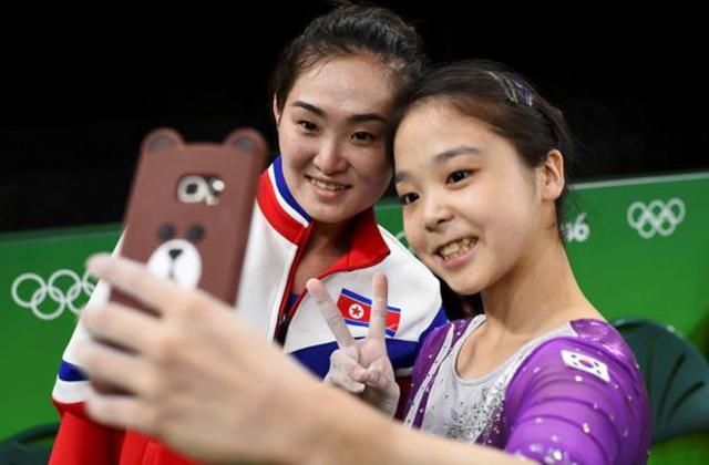 Olimpia 2016: szelfin egyesült Észak- és Dél-Korea - fotó