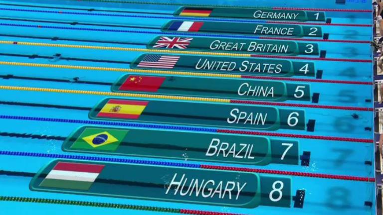 Olimpia 2016: tarolt a gyorsváltón, Hosszú Katinka, Kapás Boglárka, Késely Ajna és Verrasztó Evelyn