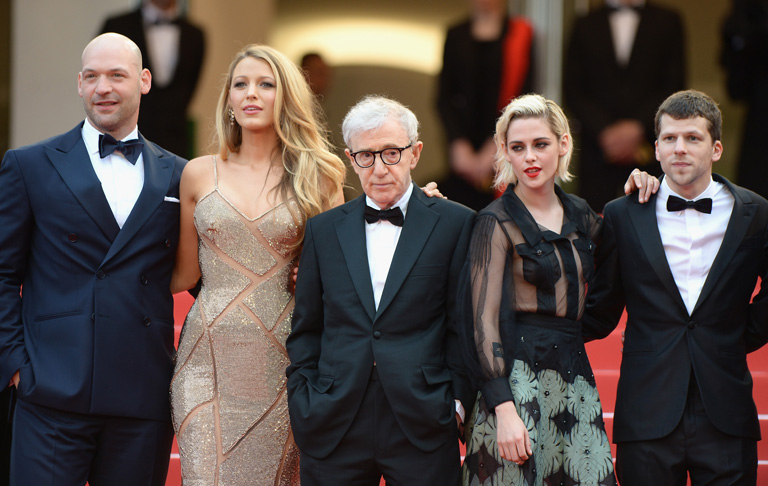Corey Stoll, actress Blake Lively, director Woody Allen, actress Kristen Stewart and actor Jesse Eisenberg
