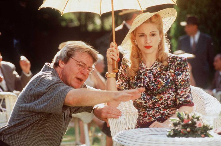 Alan Parker rendező és Madonna az Evitában