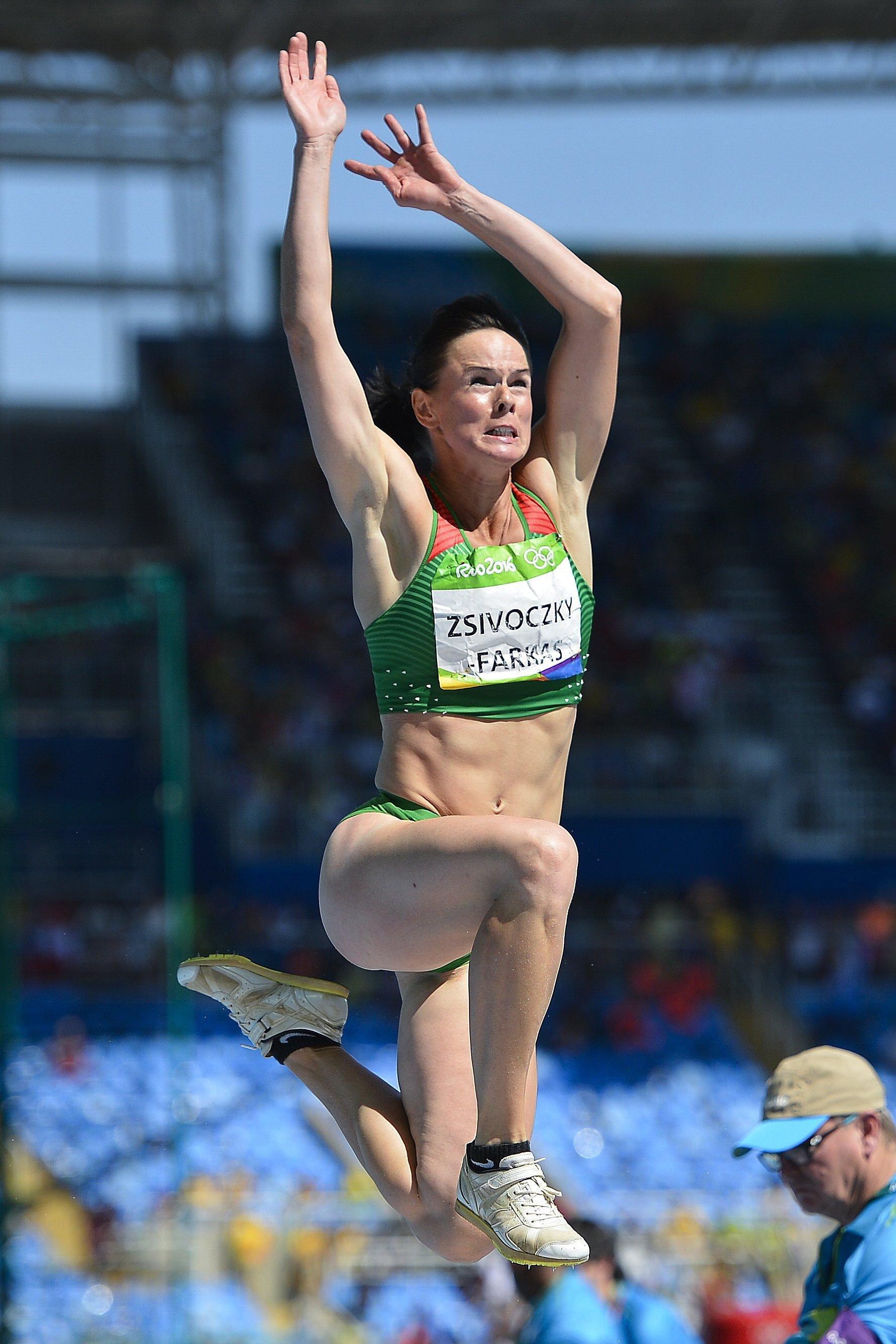 Zsivoczky-Farkas Györgyi a riói nyári olimpia hétpróba távolugrás versenyszámában.