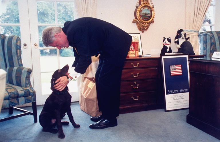 Clinton és kutyája Buddy
