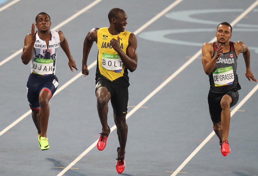 Ami igazán dühítő lehet, az Usain Bolt lesajnáló mosolya 100 méteren