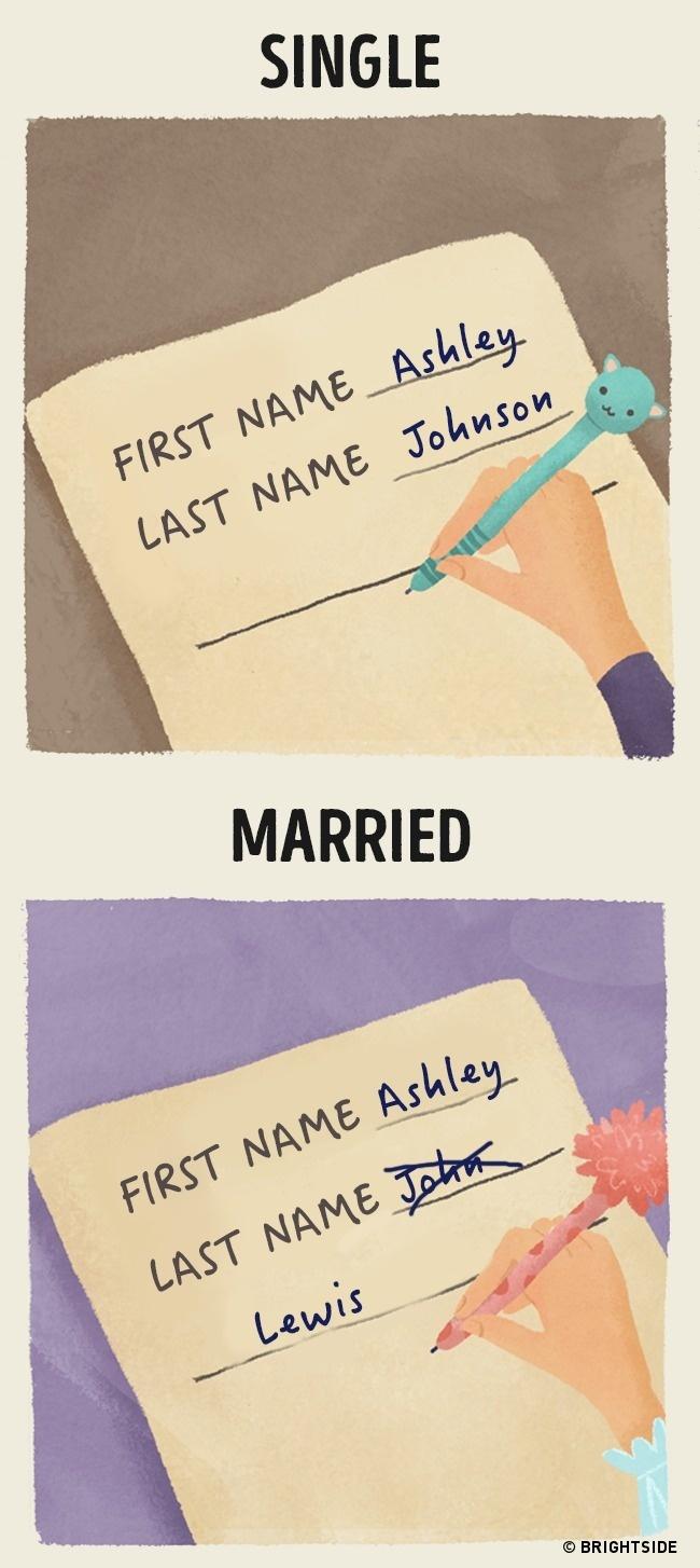 8 különbség a szingli lét és a házas élet között - cuki illusztrációk