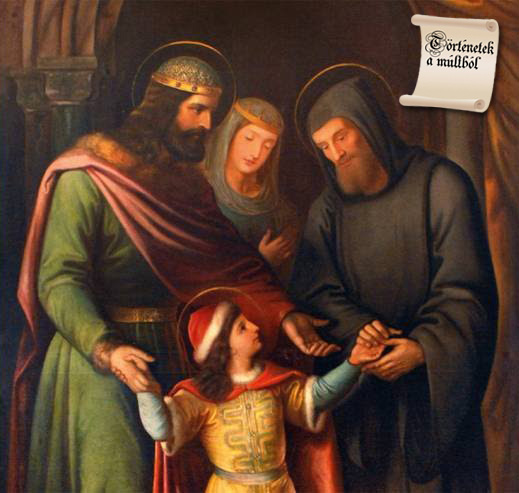 Az ismeretlen eredetű festmény – amely István királyt, Gizella királynét és Imre herceget ábrázolja, Gellért püspökkel együtt – a bencés rend bakonybéli Szent Mauríciusz monostorában található.