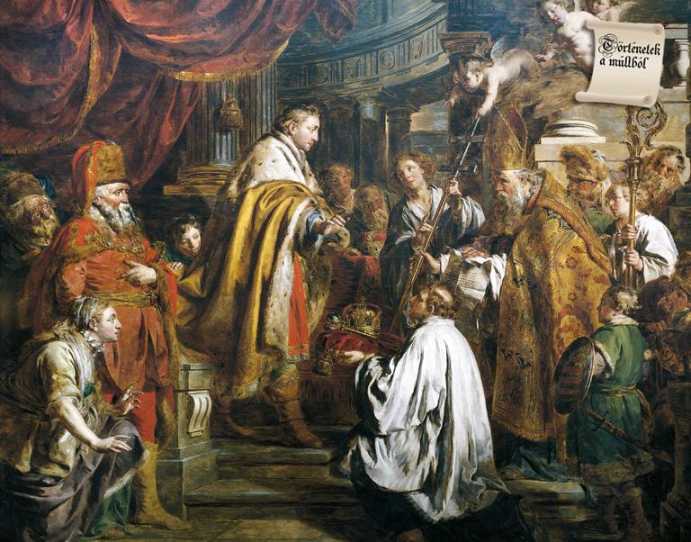 István koronázása