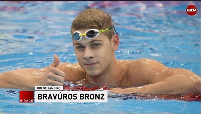 Bochkor Gábor bronzérmes úszó: Kenderesi kategóriája vagyok