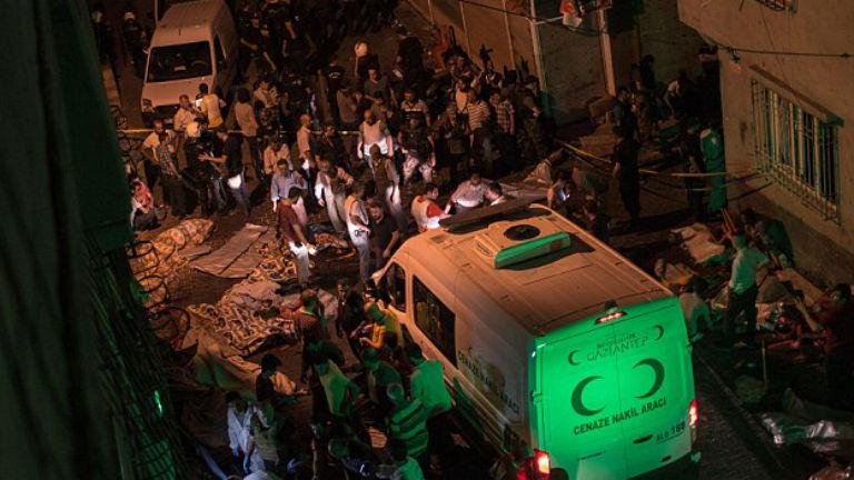 Öngyilkos merénylő robbantott egy török lakodalomban