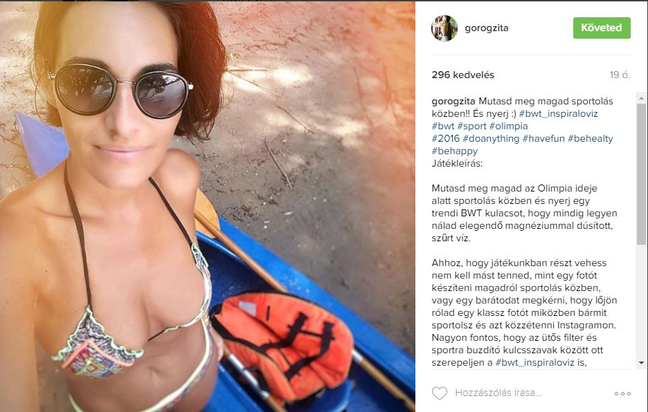 Falatnyi bikiniben edz Görög Zita