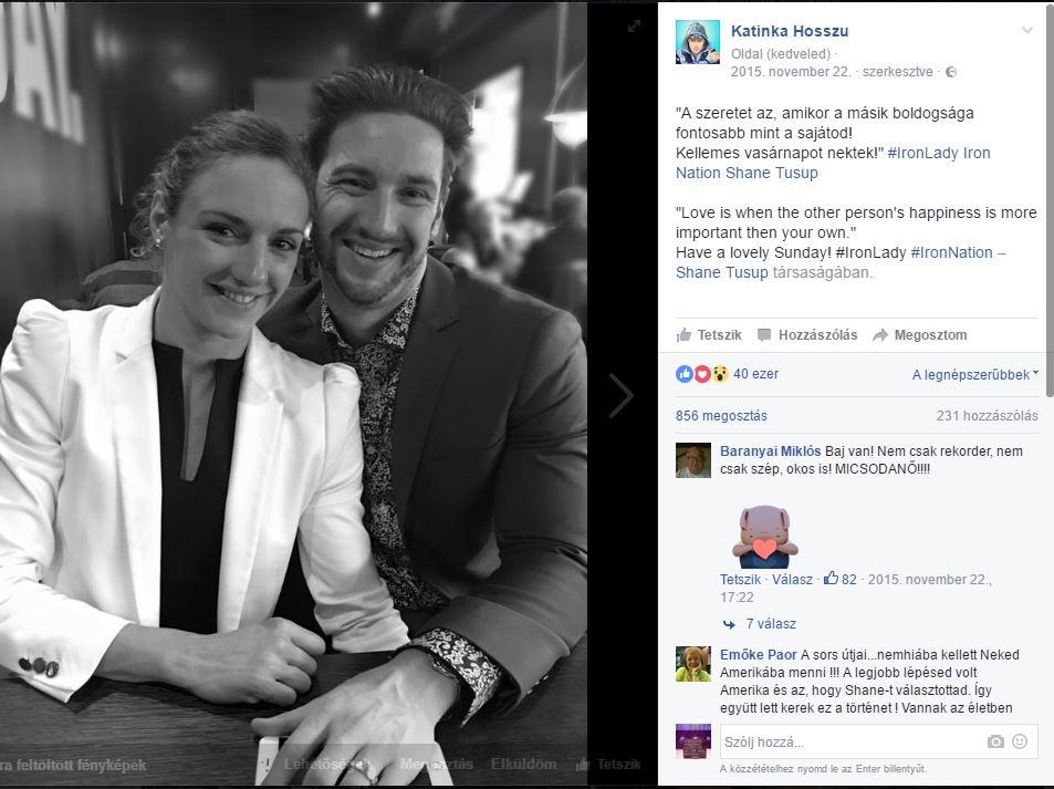 Szerelmes képek: Hosszú Katinka és Shane Tusup három éve házasok