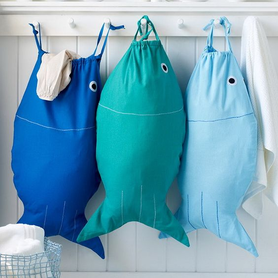 Ügyeskezű anyukáknak nem jelent kihívást egy halacskás tornazsák elkészítése.