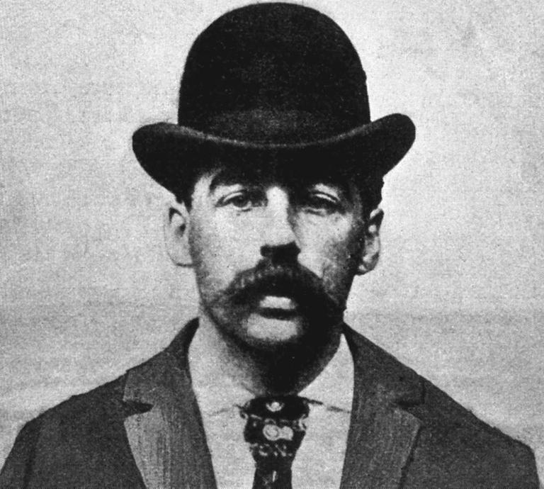 Dr. Henry Howard Holmes rendőrségi fotója (Fotó: Wikipedia)