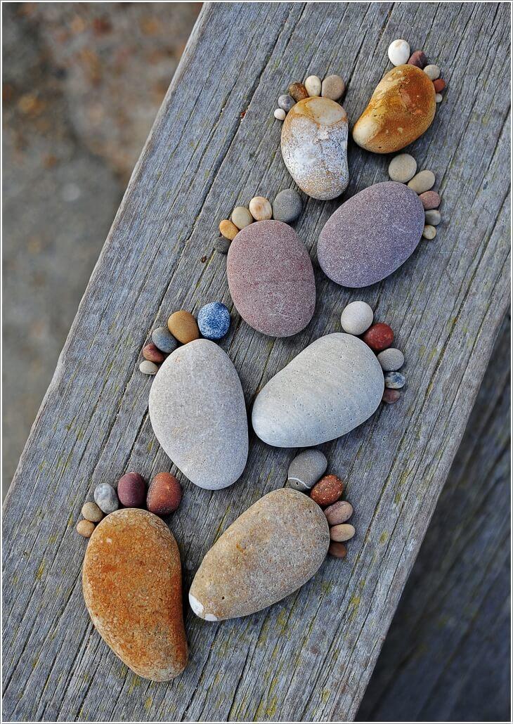 Kreatív és imádni való dekor-ötletek kavicsokból és kövekből