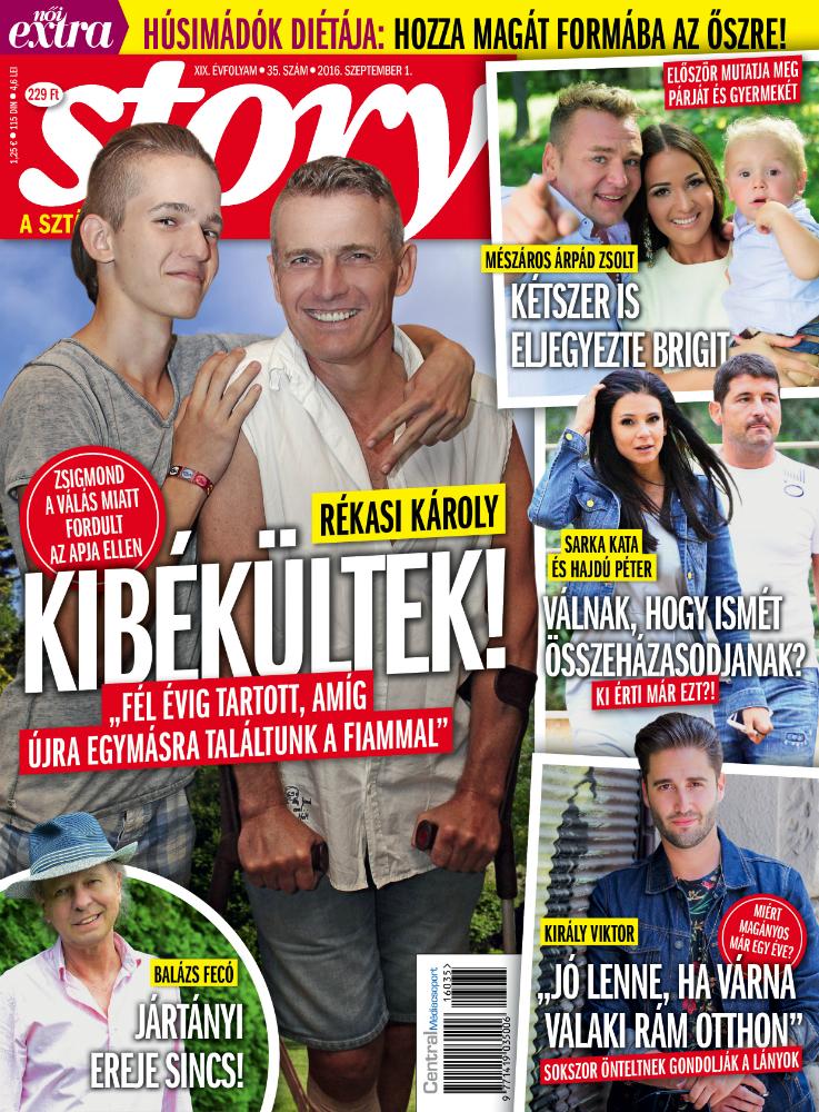 Mészáros Árpád Zsolt először mutatja meg a párját és kisfiát
