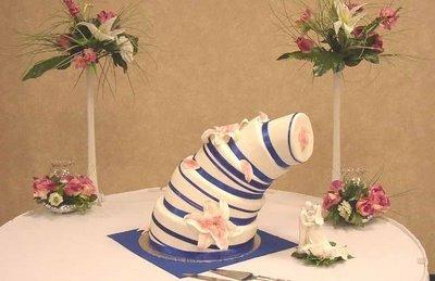 Rettenes esküvői torták, amiken csak nevetni lehet