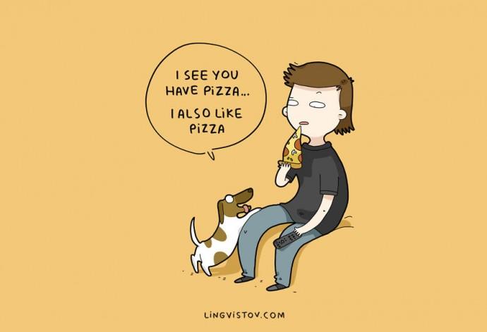 10 illusztráció amit minden kutyatulajdonos átérez