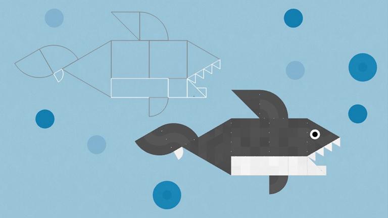 A Shapekit nevű alkalmazás a különböző geometriai formákat tanítja meg a gyerekeknek