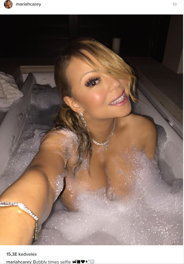 Mariah Carey pucér kebléről hab csüng