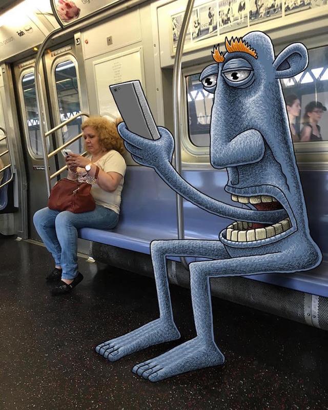 Szörnyek lepték el a New York-i metrót és beleisznak a kávédba