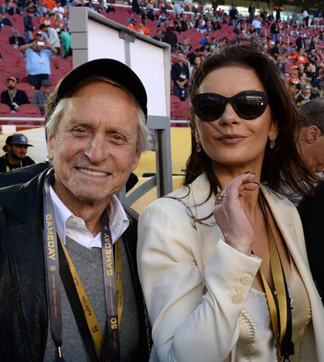 Michael és Catherine az idei Super Bowlon