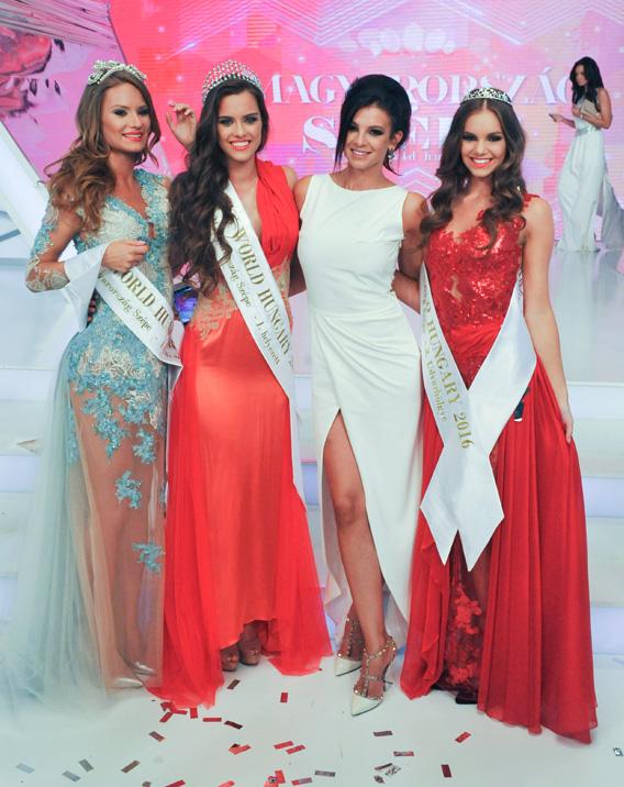 Oczella Eszter, Gelencsér Tímea, Sarka Kata, Dukai Babett Miss World Hungary 2016 - döntő