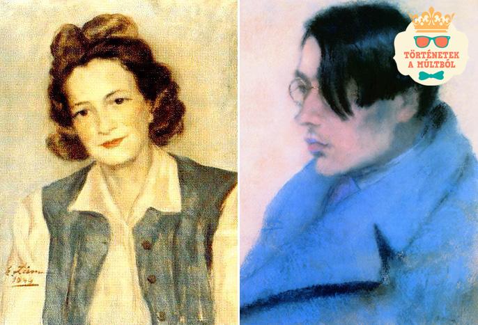Mikes Klára és Szabó Lőrinc (Rippl-Rónai festménye, 1923)