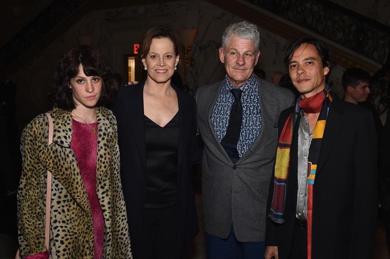 Charlotte Simpson, Sigourney Weaver, Jim Simpson és Federic Tcheng filmrendező (Fotó: Getty Images)